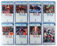 "Lot of (8) 2006- 2007 ""Civil War"" Marvel Comic Books With #1-#7 (CGC 9.8) at PristineAuction.com"