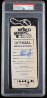 Nolan Ryan Signed 1985 World Series VIP Lanyard (PSA Encapsulated) at PristineAuction.com