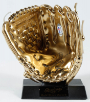 Adrian Beltre Signed Rawlings Mini Gold Baseball Glove (PSA COA) at PristineAuction.com