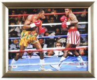 Sugar Ray Leonard & Tommy Hearns Signed 13x16 Custom Framed Photo Display (PSA Hologram) at PristineAuction.com