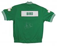 Larry Bird Signed Celtics Warm Up Jacket (Beckett COA) at PristineAuction.com