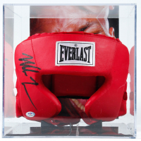 Mike Tyson Signed Everlast Head Gear with Display Case (PSA COA) at PristineAuction.com