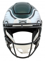 """Brian Dawkins Signed Eagles Full-Size Authentic On-Field SpeedFlex Helmet Inscribed """"HOF 18"""", """"Weapon X!"""" (JSA COA) at PristineAuction.com"""