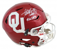 "Adrian Peterson Signed Oklahoma Sooners Full-Size Authentic On-Field SpeedFlex Helmet Inscribed ""All Day"" (Beckett COA) at PristineAuction.com"