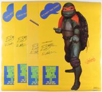 "Lot of (4) Kevin Eastman Signed ""Teenage Mutant Ninja Turtles II: The Secret of the Ooze"" 22x32 Posters Inscribed ""Cowabunga!"" (JSA ALOA) at PristineAuction.com"