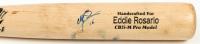 Eddie Rosario Signed Game-Used Marucci Baseball Bat (JSA COA) at PristineAuction.com