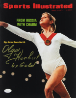 "Olga Korbut Signed 11x14 Photo Inscribed ""4x Gold"" (JSA COA) at PristineAuction.com"