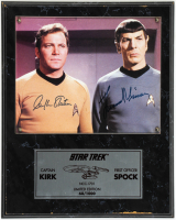 William Shatner & Leonard Nimoy Signed Star Trek 12x15 Custom Plaque Display (Beckett LOA) at PristineAuction.com