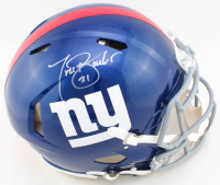 Tiki Barber Signed Giants Full-Size Authentic On-Field Speed Helmet (JSA COA) at PristineAuction.com