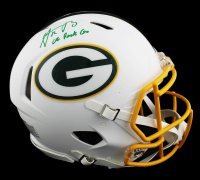 "Aaron Rodgers Signed Packers Full-Size Authentic On-Field Matte White Speed Helmet Inscribed ""Go Pack Go"" (Fanatics Hologram) at PristineAuction.com"