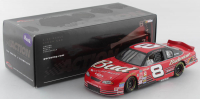 Dale Earnhardt Jr. LE #8 Budweiser 2001 Monte Carlo Clear Window 1:24 Scale Stock Car Coin Bank at PristineAuction.com