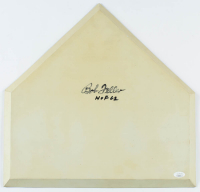 "Bob Feller Signed Baseball Home Plate Inscribed ""HOF 62"" (JSA COA) at PristineAuction.com"