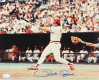 Pete Rose Signed Reds 11x14 Photo (JSA COA) at PristineAuction.com