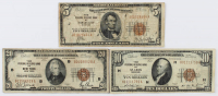 Lot of (3) 1929 U.S. National Currency Federal Reserve Bank Notes with $20, $10, & $5 at PristineAuction.com