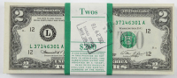Lot of (100) 1976 $2 Two-Dollar U.S. Federal Reserve Notes with Consecutive Serial Numbers at PristineAuction.com