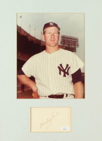 Whitey Ford Signed Yankees 11x16 Custom Matted Cut Display (JSA COA) at PristineAuction.com