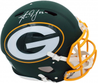 Aaron Jones Signed Packers Full-Size Authentic On-Field AMP Alternate Speed Helmet (Radtke COA) at PristineAuction.com