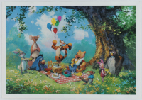 "James Coleman Signed ""Splendiferous Picnic"" Limited Edition 17x12 Lithograph (PA LOA) at PristineAuction.com"