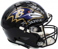 "Ray Lewis & Terrell Suggs Signed Ravens Full-Size Authentic On-Field SpeedFlex Helmet Inscribed ""SB XXV MVP"" & ""T-Sizzle"" (Beckett COA & Radtke COA) at PristineAuction.com"