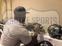 "Ray Lewis & Terrell Suggs Signed Ravens Full-Size Authentic On-Field SpeedFlex Helmet Inscribed ""SB XXV MVP"" & ""T-Sizzle"" (Beckett COA & Radtke COA) at PristineAuction.com"
