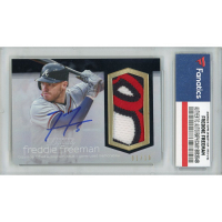 Freddie Freeman 2018 Topps Dynasty Autograph Patches #APFF3 #01/10 (Fanatics Encapsulated) at PristineAuction.com