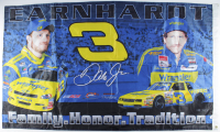 Dale Earnhardt & Dale Earnhardt Jr. 35x60 Flag at PristineAuction.com
