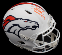 "Terrell Davis Signed Broncos Full-Size Authentic On-Field Matte White Speed Helmet Inscribed ""Bronco 4 Life"" (Radtke COA) at PristineAuction.com"