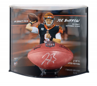 "Joe Burrow Signed LE Official ""The Duke"" Game Ball with Custom Curve Display (Fanatics Hologram) at PristineAuction.com"