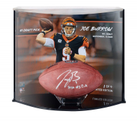 "Joe Burrow Signed LE Official ""The Duke"" Game Ball with Custom Curve Display Inscribed ""2020 #1 Pick"" (Fanatics Hologram) at PristineAuction.com"