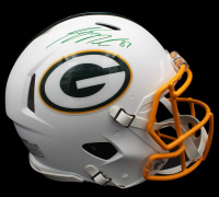 Jordy Nelson Signed Packers Full-Size Authentic On-Field Matte White Speed Helmet (JSA COA) at PristineAuction.com