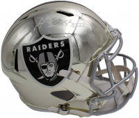 Henry Ruggs III Signed Raiders Full-Size Chrome Speed Helmet (Fanatics Hologram) at PristineAuction.com
