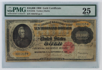 1900 $10,000 Ten-Thousand Dollar U.S. Gold Certificate Bank Note (PMG 25) at PristineAuction.com