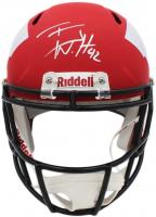 T.J. Watt Signed Wisconsin Badgers Full-Size AMP Alternative Speed Helmet (JSA COA) at PristineAuction.com