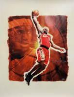 "LeBron James Signed Cavaliers LE ""Stargazer"" 24x28 Lithograph (UDA COA) at PristineAuction.com"