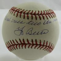 "Yogi Berra Signed OML Baseball Inscribed ""It Ain't Over Till It's Over"" (PSA Hologram & LTD Hologram) at PristineAuction.com"