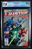 "2011 ""Justice League"" Issue #1 D.C. Comic Book (CGC 7.0) at PristineAuction.com"