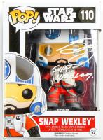"""Greg Grunberg Signed """"Star Wars"""" #110 Funko Pop! Vinyl Figure Inscribed """"Snap Wexley"""" (JSA Hologram) at PristineAuction.com"""