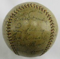 1929 Yankees Baseball Team-Signed by (20) Including Lou Gehrig, Waite Hoyt, Tony Lazzeri, Leo Durocher (JSA LOA) at PristineAuction.com