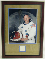 Neil Armstrong Signed 16x22 Custom Framed Display (JSA LOA) at PristineAuction.com