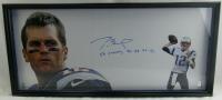 "Tom Brady Signed Patriots 22x48 Custom Framed Photo Inscribed ""SB Champs 36, 38, 39, 49"" (TriStar Hologram) at PristineAuction.com"
