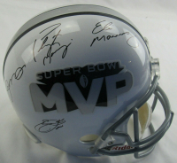 Super Bowl MVP Full-Size Helmet Signed by (4) with Joe Montana, Peyton Manning, Eli Manning & Emmitt Smith (Steiner Hologram, Smith Hologram, & Montana Hologram) at PristineAuction.com