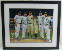 Yankees Perfect Game 22x26 Custom Framed Photo Signed by (6) Including Yogi Berra, Jorge Posada, Don Larsen with (3) Perfect Game Inscriptions (Steiner Hologram, MLB Hologram, & Wish You Were Here Hologram) at PristineAuction.com