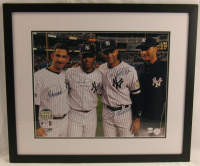 "Yankees ""The Core Four"" Dynasty 23x27 Custom Framed Photo Team-Signed by (4) with Derek Jeter, Andy Pettitte, Jorge Posada & Mariano Rivera (MLB Hologram & Steiner Hologram) at PristineAuction.com"