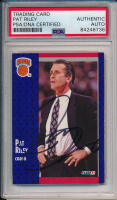 Pat Riley Signed 1991 Fleer Card #139 (PSA Encapsulated) at PristineAuction.com