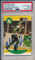 Mike Modano Signed 1990 Pro Set #142 (PSA Encapsulated) at PristineAuction.com