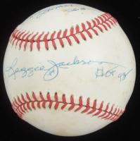 """Reggie Jackson Signed OAL Baseball Inscribed """"HOF 93"""", """"Mr. October"""" & """"563"""" (JSA COA) at PristineAuction.com"""