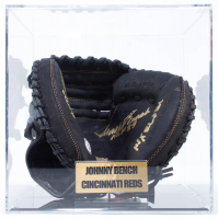 Johnny Bench Signed Rawlings Catcher's Glove with Multiple Inscriptions with Display Case  (PSA COA) at PristineAuction.com