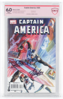 "Stan Lee & Joe Simon Signed 2009 ""Captain America"" Issue #600 Marvel Comic Book (CBCS 6.0) at PristineAuction.com"