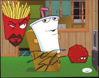 "Dana Snyder Signed ""Aqua Teen Hunger Force"" 8x10 Photo (JSA COA) at PristineAuction.com"