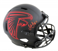 Julio Jones Signed Falcons Full-Size Eclipse Alternate Speed Helmet (Beckett COA) at PristineAuction.com